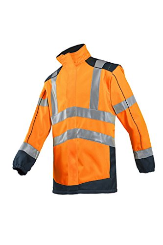 SIOEN 167AA2TU22792XL Drayton Hi-Vis Softshell Jacket With Detachable Sleeves, XX-Large, Hi-Vis Orange/Navy from SIOEN