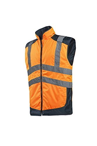 SIOEN 169AA2EU1279XL Burton Reversible Body Warmer, X-Large, Hi-Vis Orange/Navy from SIOEN