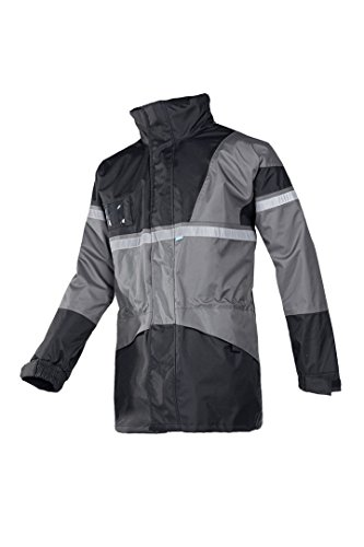 SIOEN 288AA2EX10614XL Clover Field Rain Jacket With Detachable Body Warmer, 4X-Large, Grey/Black from SIOEN
