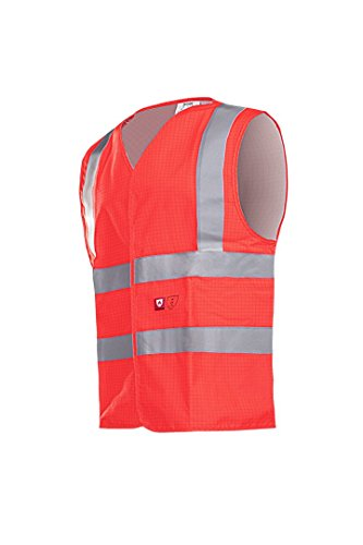 SIOEN 307AA2PX8FR13XL Hellisan Flame retardant and anti-static waistcoat, 3X-Large, Hi-Vis Red from SIOEN