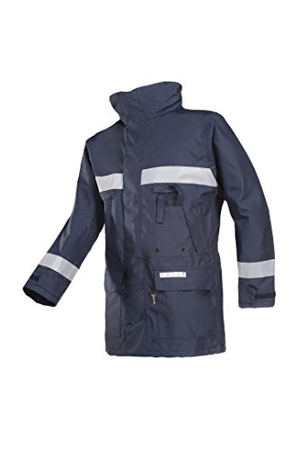 SIOEN 3085N2EF7B752XL Hasnon Flame retardant anti-static rain jacket, XX-Large, Navy Blue from SIOEN