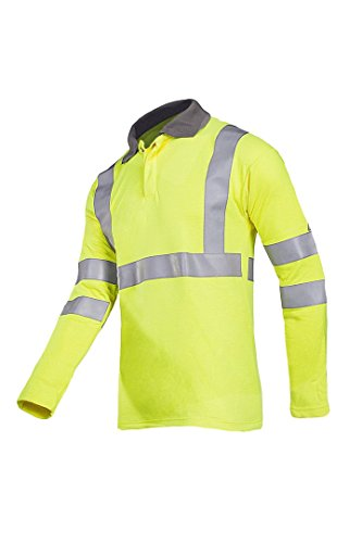 SIOEN 3142A2MVCFY12XL Ruapo Hi-Vis Polo-Shirt, Flame Retardant and Anti-Static, 2X-Large, Yellow from SIOEN