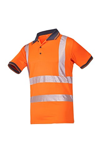 SIOEN 3881A2MC3FC1S Tiola Hi-Vis Polo-Shirt, Small, Orange from SIOEN