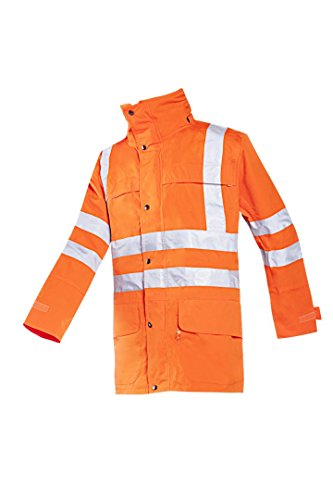 SIOEN 403ZA2EJ4FC1L Preston Hi-Vis Rain Jacket, Large, Orange from SIOEN