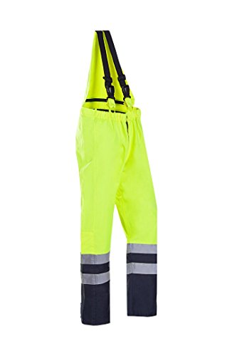 SIOEN 495AA2EU12783XL Rogat Hi-Vis Winter Bib and Brace, 3X-Large, Yellow/Navy from SIOEN