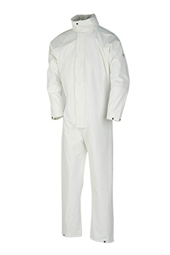 SIOEN 4964A2F01W02M Montreal Rain Coverall, Medium, White from SIOEN