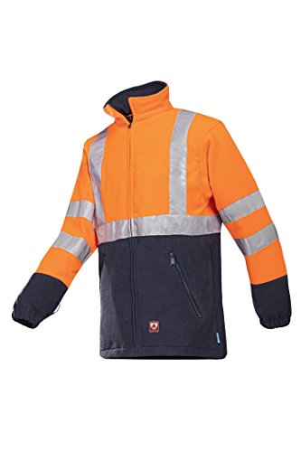 SIOEN 496ZN2TF1279S Rainier Flame Retardant Hi-Vis Fleece, Small, Orange/Navy from SIOEN