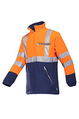 SIOEN 497ZA2T01414S Kingley fleece, Small, Hi-Vis Orange/Navy from SIOEN
