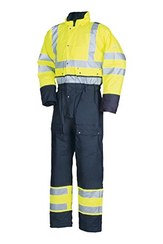 SIOEN 5616A2F01065XL Rabaul Hi-Vis Winter Rain Coverall, X-Large, Yellow/Navy from SIOEN