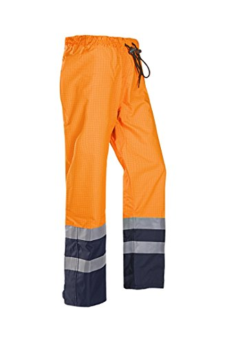 SIOEN 5729A2EF7279XL Gladstone Flame retardant anti-static rain trousers, X-Large, Hi-Vis Orange/Navy from SIOEN