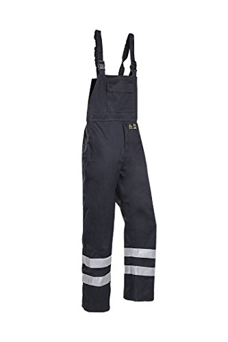SIOEN 6144A2LE9BS02XL Atmore Bib and brace trousers with ARC protection, XX-Large, Blue from SIOEN