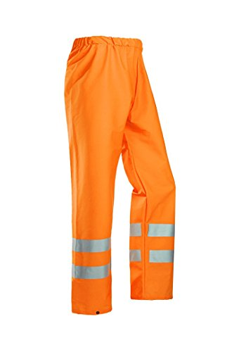 SIOEN 6361A2FE0FC1M Bastogne rain trousers, Medium, Hi-Vis Orange from SIOEN