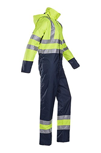 SIOEN 6453A2ES3278XL Tanner Hi-Vis Rain Coverall, X-Large, Yellow/Navy from SIOEN