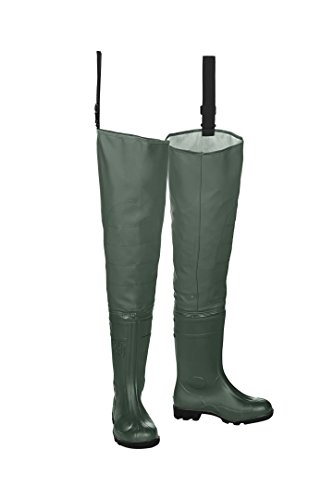 SIOEN 703AA2B17A96V39 Largan Hip Wader with Safety Boots, V39, Green Khaki from SIOEN