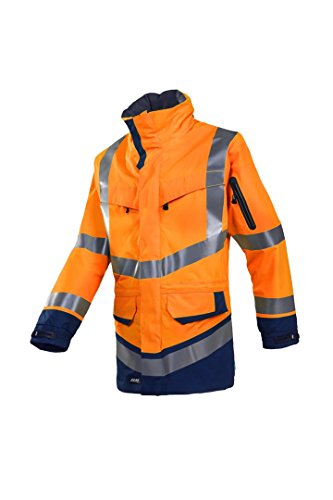 SIOEN 708ZA2LH2414XL Windsor Hi-Vis Rain Jacket, X-Large, Orange/Navy from SIOEN