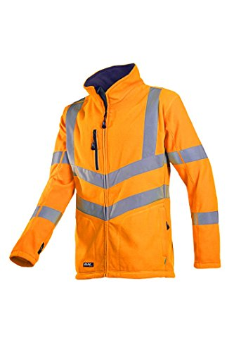 SIOEN 712ZA2T01FC1XL Mowett Hi-Vis Fleece Jacket, X-Large, Orange from SIOEN