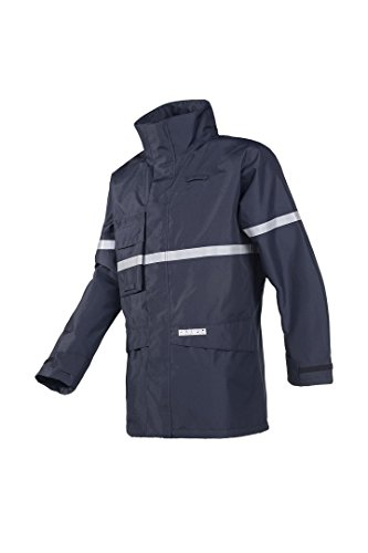 SIOEN 7222A2EF7B75M Glenroy Flame retardant anti-static rain jacket, Medium, Navy Blue from SIOEN