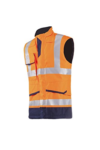 SIOEN 7231A2ET12792XL Flaxton Hi-Vis Body-Warmer, Anti-Static and Flame Retardant, XX-Large, Orange/Navy from SIOEN