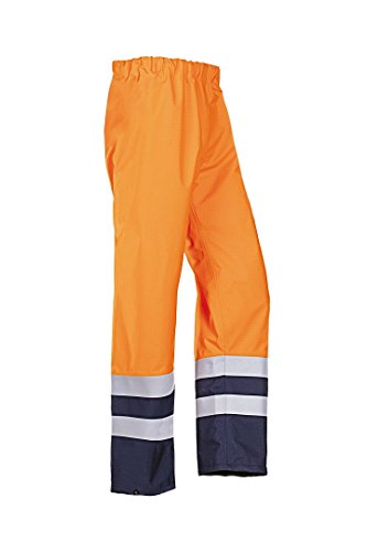 SIOEN 7235A2ET1279XL Kamber Flame retardant anti-static rain trousers, X-Large, Hi-Vis Orange/Navy from SIOEN