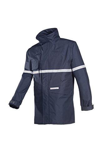 SIOEN 7237A2ET1B75XL Durant Flame Retardant Anti-Static Rain Jacket, X-Large, Navy Blue from SIOEN