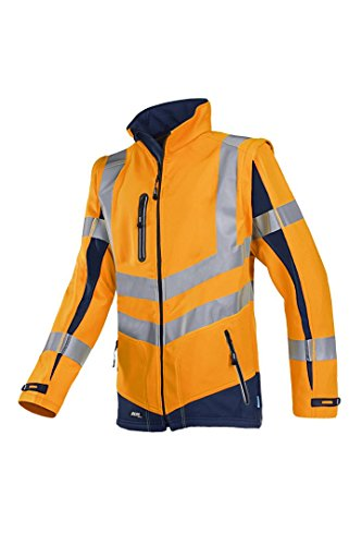 SIOEN 724ZA2TU24143XL Malden Soft Shell jacket with detachable sleeves, 3X-Large, Hi-Vis Orange/Navy from SIOEN