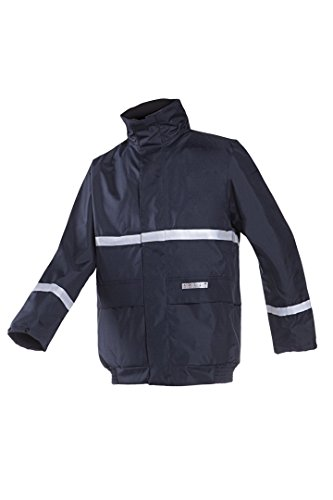SIOEN 7361N2EF5B75S Waverly Rain Bomber Jacket, Flame Retardant and Anti-Static, Small, Navy Blue from SIOEN