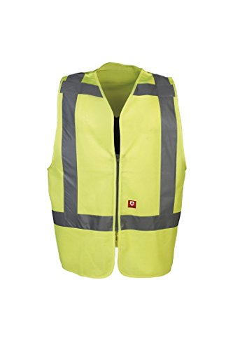 SIOEN 9052A2PECFY1M Solaka Hi-Vis Waistcoat, Medium, Yellow from SIOEN