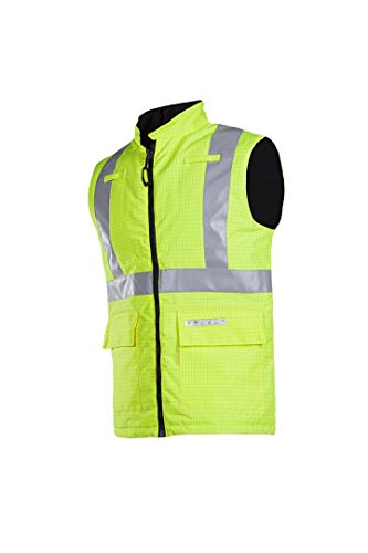 SIOEN 9387A2EF3FY1M Sidney Flame Retardant, Anti-Static Hi-Vis Body-Warmer, Medium, Yellow from SIOEN