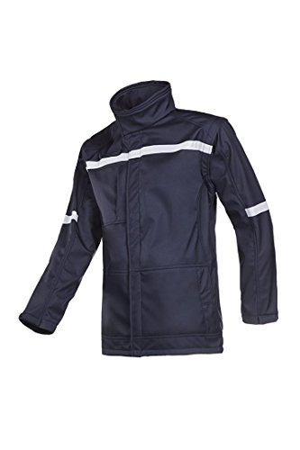 SIOEN 9644A2TV4B75M Belarto Flame retardant anti-static soft shell with detachable sleeves, Medium, Navy Blue from SIOEN