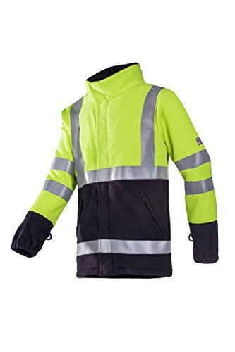 SIOEN 9896A2TF22783XL Valier Anti-Static Hi-Vis Fleece, Flame Retardant, 3X-Large, Yellow/Navy from SIOEN