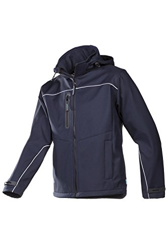 SIOEN 9934A2TU1BSPM Homes Laminated Soft Shell jacket with detachable hood, Medium, Blue from SIOEN