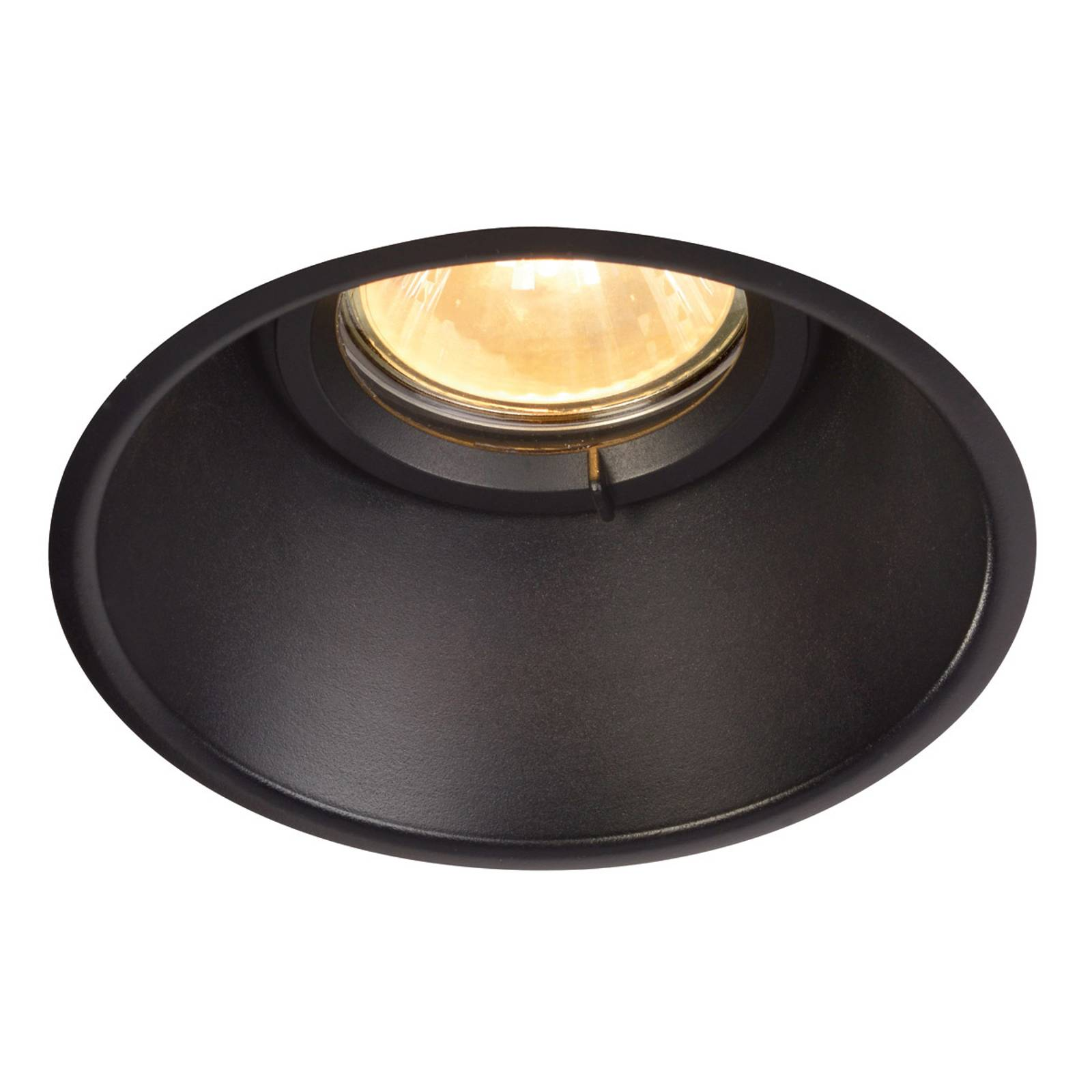 Inconspicuous Horn-O ceiling spotlight, black from SLV