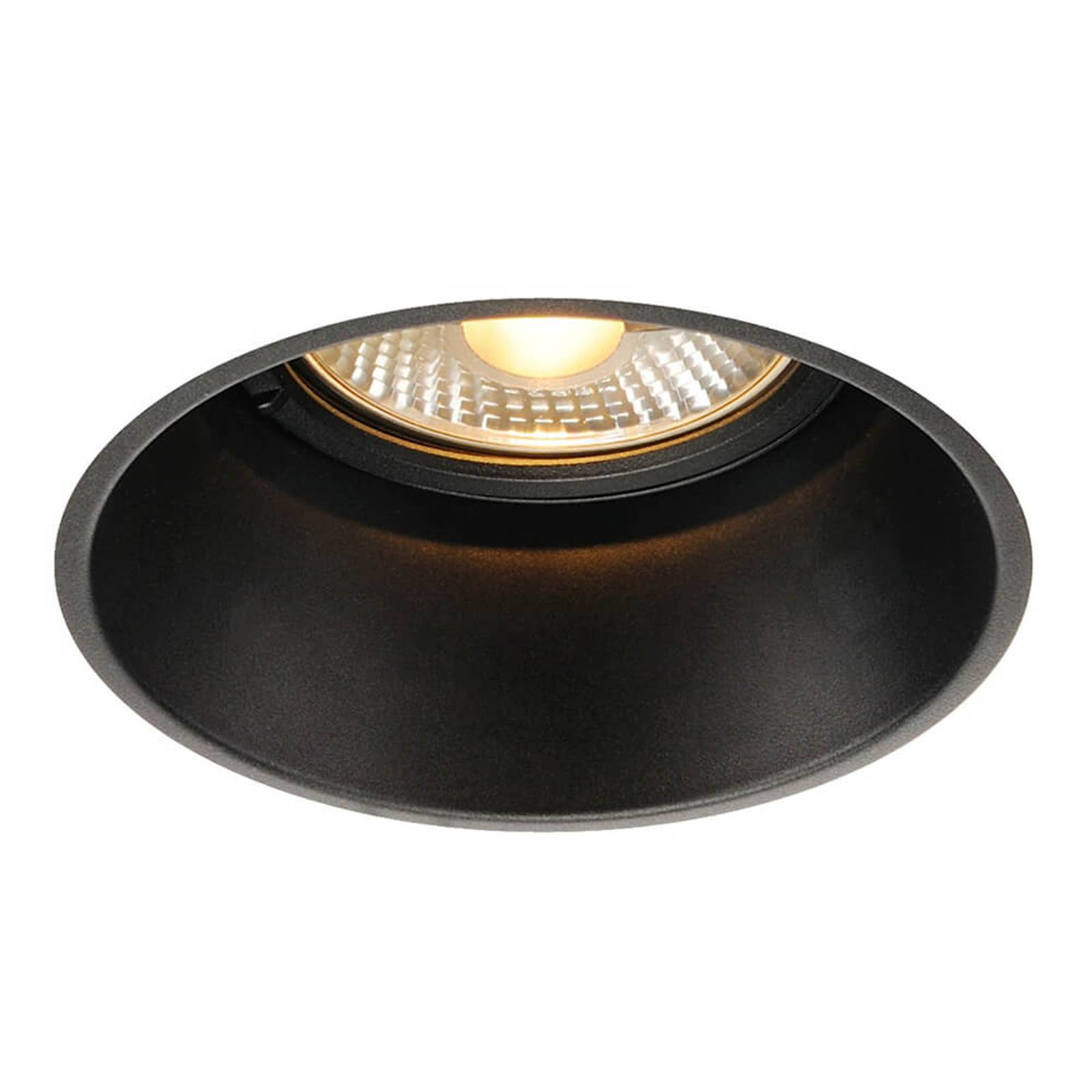 SLV Horn-T recessed light, black, reduced glare from SLV