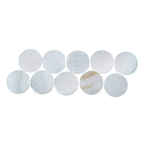 10pcs Shell Inlay Stickers Round Dots Fingerboard Marker for Guitar Banjo - as described, 6mm from SM SunniMix