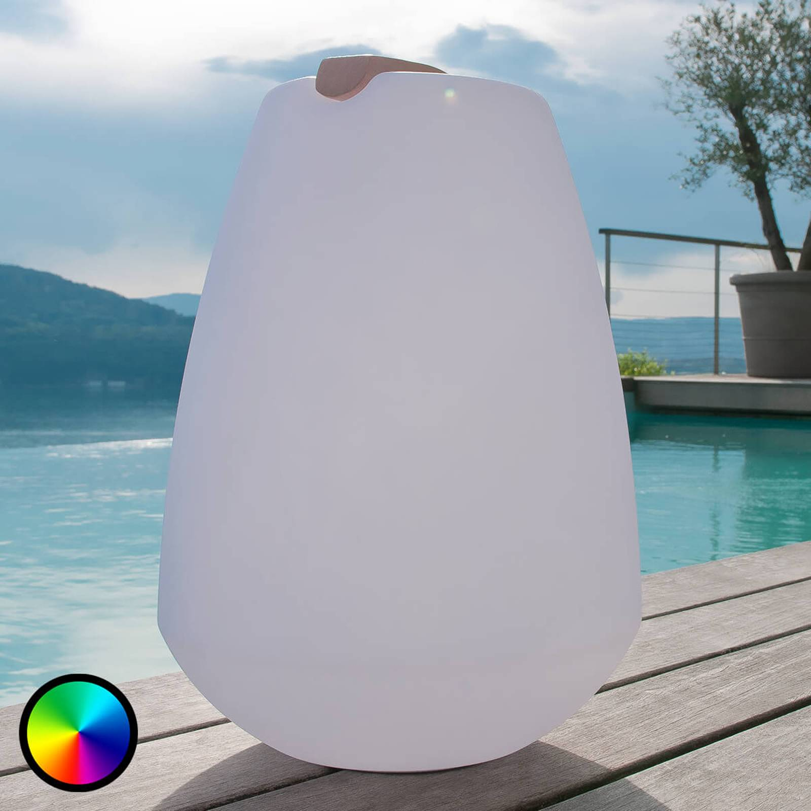 Portable LED decorative light Vessel from Smart&Green