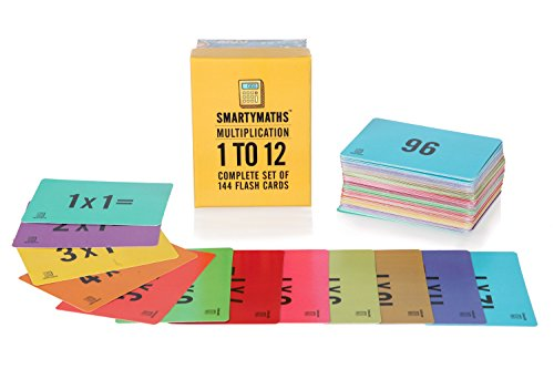 SmartyMaths Times Table Flash Cards Set of 144 from SMARTYMATHS