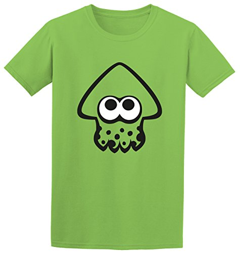 """ Inkling Squid "" - Multiple Colours Splatoon Switch Game Inspired Kids Adult T-Shirt (9/11, Lime) from SMARTYPANTS"