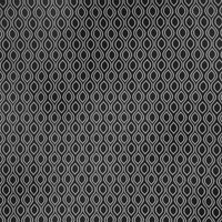 Ellipse Curtain Fabric Ebony from SMD