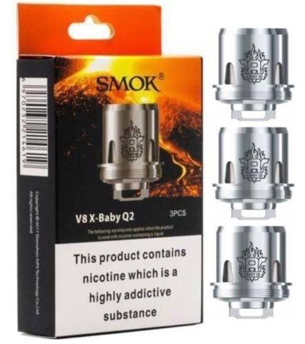 Smok V8 X-Baby Q2 Coil 0.4 Ohm for TFV8 X Baby Tank,Stick X8 Kit and G-priv 2 Kit, Pack of 3 from SMOK