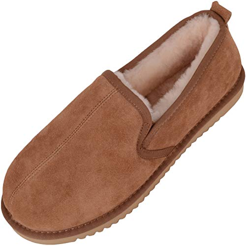 SNUGRUGS Sheepskin with Hard Sole, Men's Low-Top Slippers, Brown (Chestnut), 8 UK (42 EU) from SNUGRUGS
