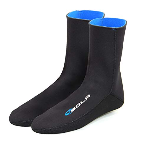 SOLA Men's 2mm Blindstitched Sock, Black/Blue, XLG from SOLA