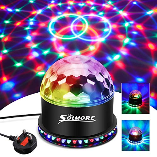 Disco Lights SOLMORE 51 LEDs Disco Ball Light 12W RGB Party DJ Stage Lights from SOLMORE