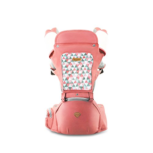 SONARIN Sun Protection Hipseat Baby Carrier,Breathable,Multifunction,Storage Pockets, Easy to Carry and Easy Mom,Adapted to Your Child's Growing, 100% Guarantee and Free DELIVERY,Ideal Gift(Pink) from SONARIN