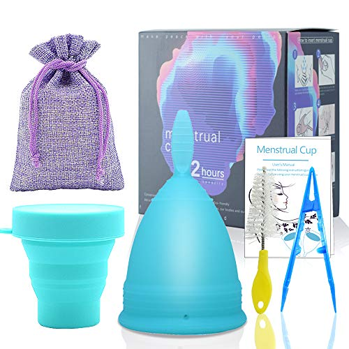 SPEQUIX 1 PCS Blue Menstrual Cup and 1 PCS Sterilizing Cup Set for Lady Feminine Hygiene Protection with Sterilizer Cup (Large) from SPEQUIX