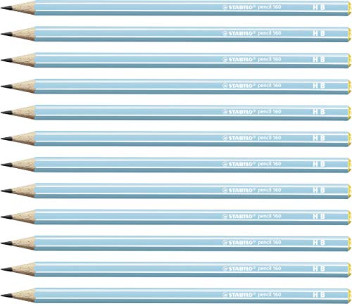 Graphite Pencil - STABILO pencil 160 HB blue box of 12 from STABILO