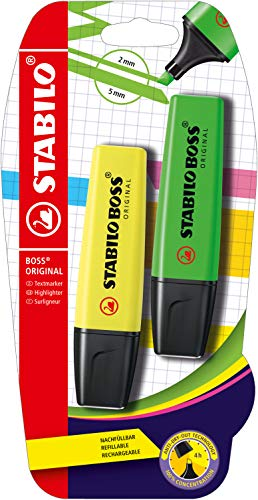 Highlighter - STABILO BOSS ORIGINAL Yellow/Green from STABILO