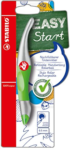 Handwriting Pen - STABILO B-47695-5 EASYoriginal Metallic Right Handed Green from STABILO
