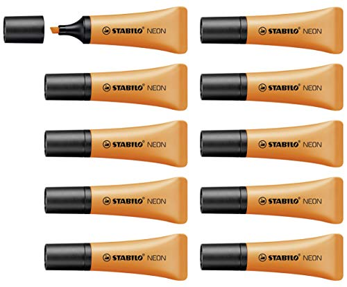 Highlighter - STABILO NEON Orange Box of 10 from STABILO