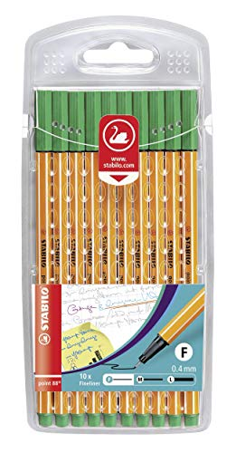 STABILO Point 88 Fineliner - Green (Wallet of 10) from STABILO
