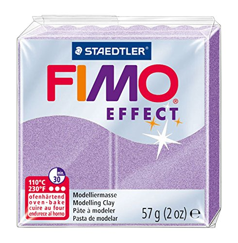 STAEDTLER Fimo Effect Polymer Clay 2 oz. Lilac Pearl, Acrylic, Multicoloured, 0.55 x 2.05 x 2.05 cm from STAEDTLER